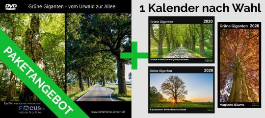 Paketangebot: DVD Grüne Giganten + Kalender für 2020 nach Wahl