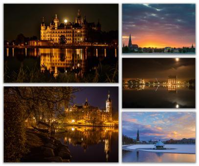 Postkarten-Set: Schwerin - Lichtstimmungen